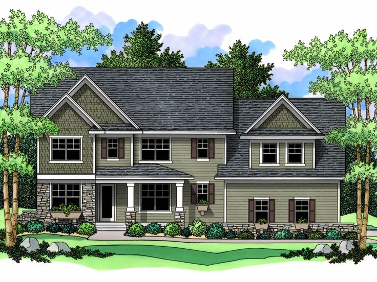 2-Story House Plan, 023H-0124