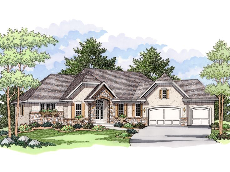 European House Plan, 023H-0139