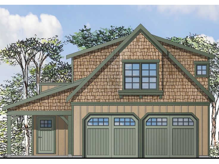beautiful craftsman carriage house plans #4: Carriage House Plan, 051G-0069