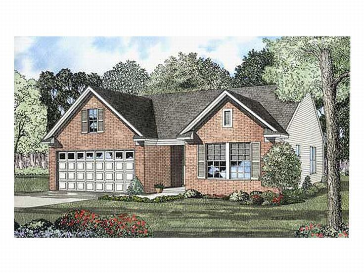 Narrow Lot Home Plan, 025H-0130