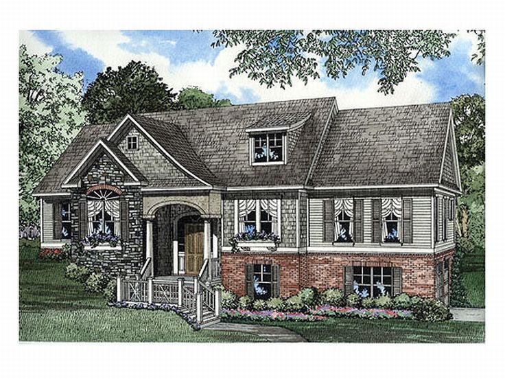Plans Large Hillside Ranch Home Plan Chp Lg Ga Sq Ft