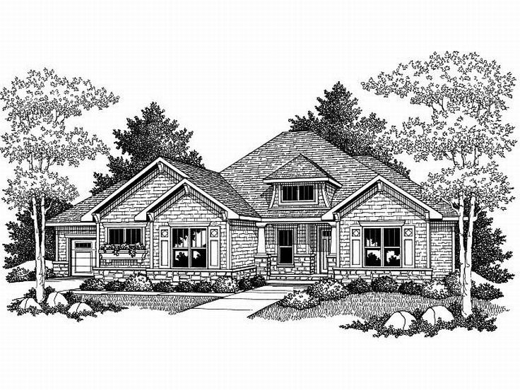 Ranch House Plan, 020H-0168