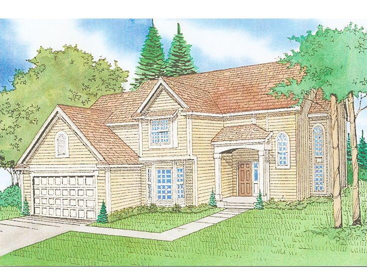 Two-Story House Plan, 009H-0021