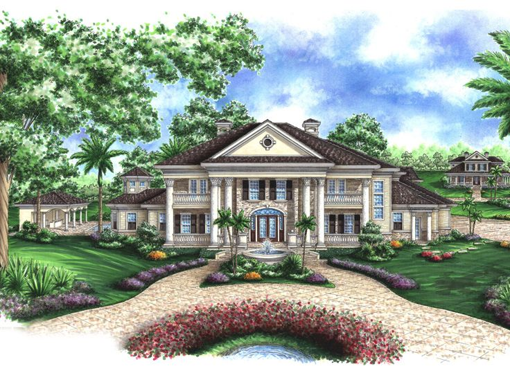 Plan H    Find Unique House Plans  Home Plans and Floor    Southern Colonial House  H