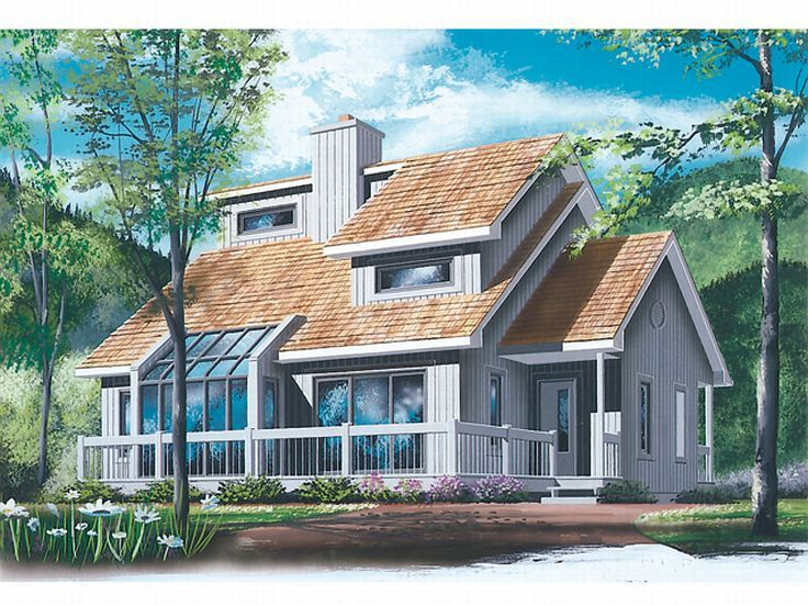 Contemporary Home Plan, 027H-0125