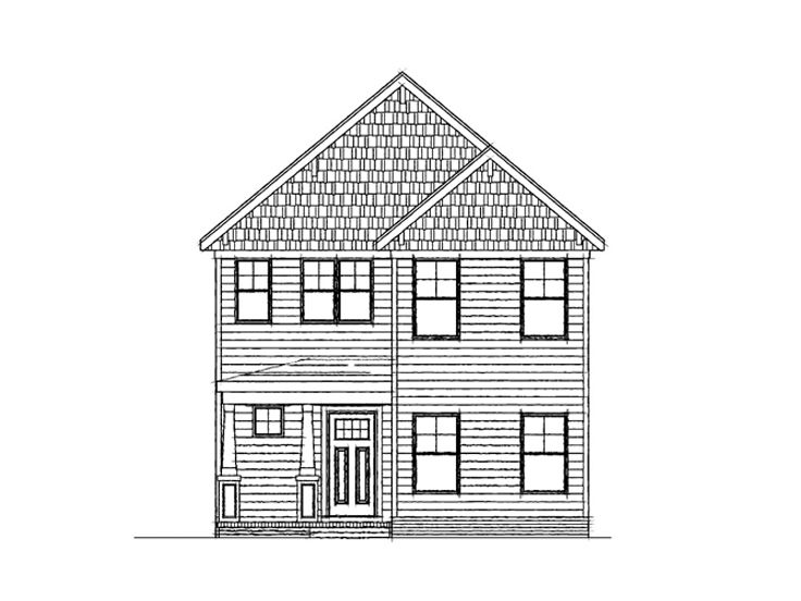 Narrow lot home plans two story narrow lot house plan for Two story house drawing