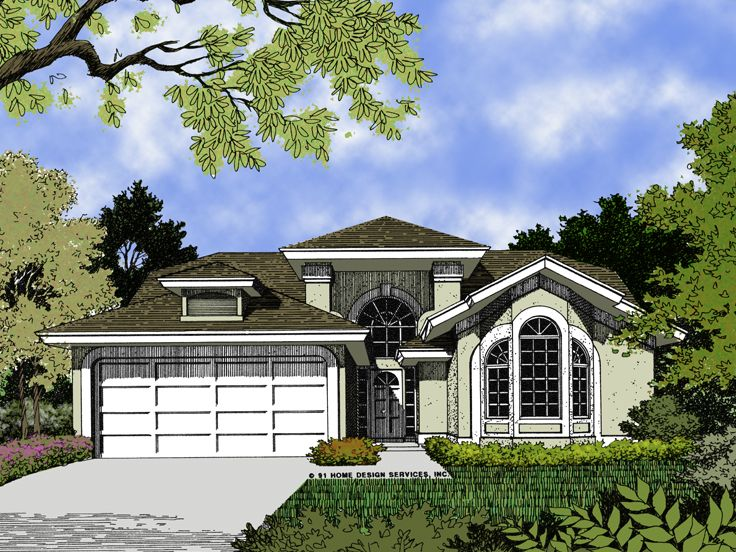 Sunbelt Home Plan, 043H-0012