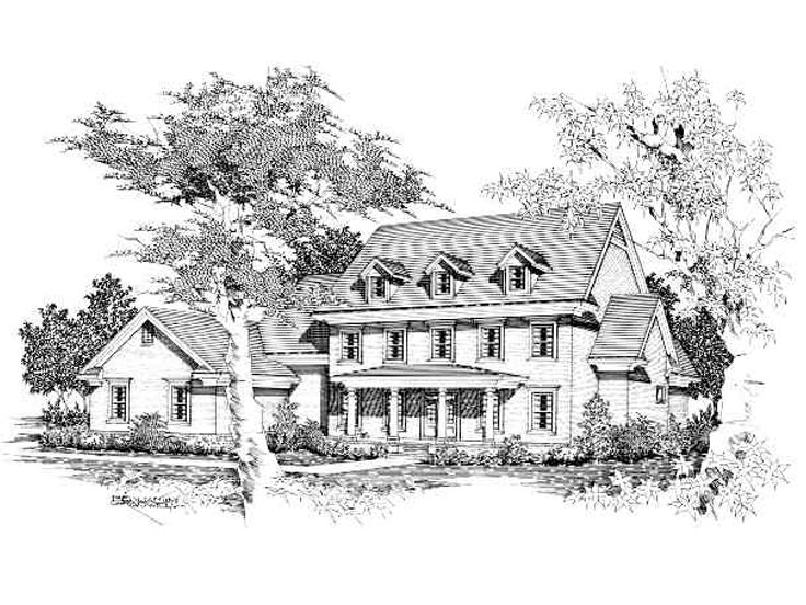 Two-Story House Plan, 061H-0134