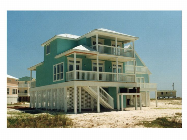 Beach House, Rear, 017H-0033