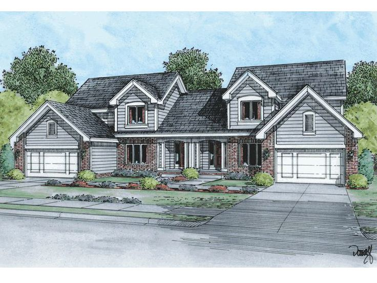 Duplex Home Plan, 031M-0021