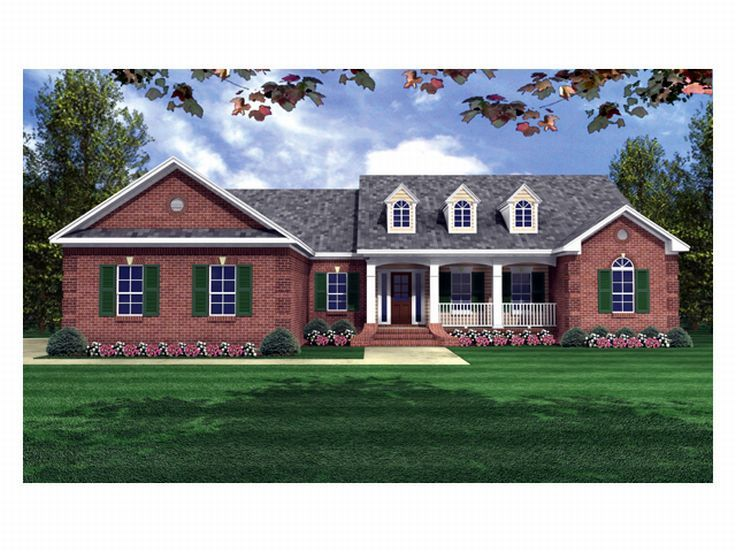 Traditional House Plan, 001H-0076