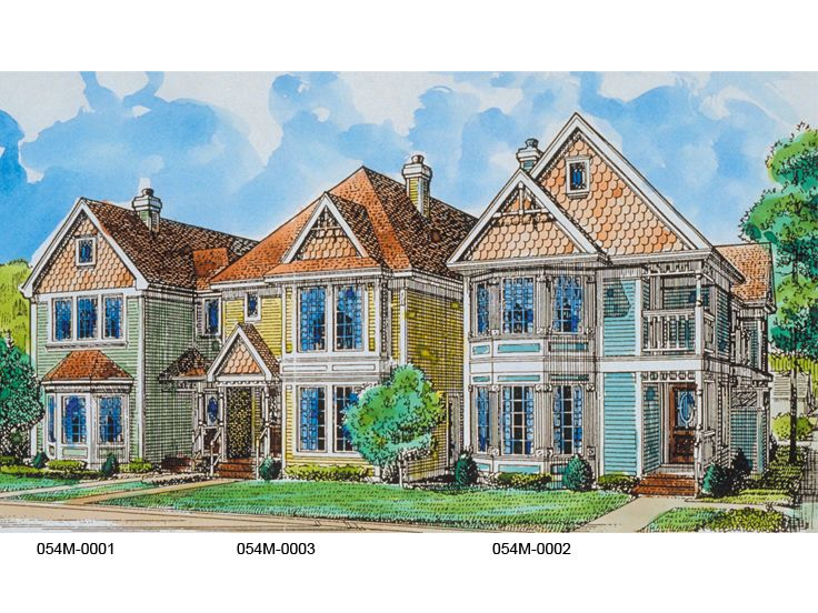 Townhouse Plan, 054M-0003