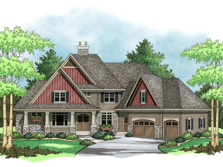 Craftsman House Plan, 023H-0146