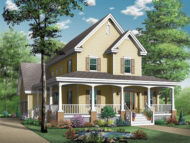 2-Story Country House, 027H-0091