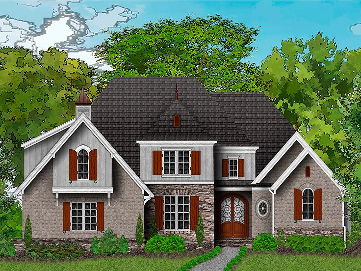 Two story house plans 2 story european home plan 049h for 2 story european house plans