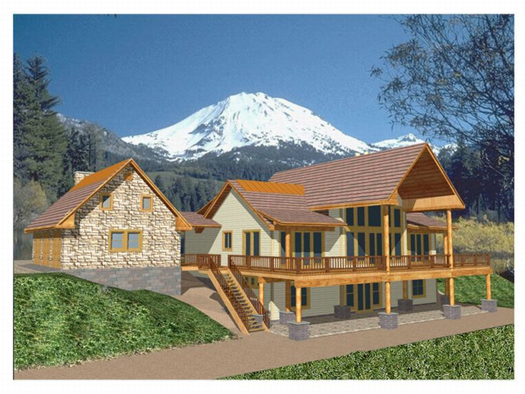 Plan 012h 0041 find unique house plans home plans and for Mountain house plans rear view