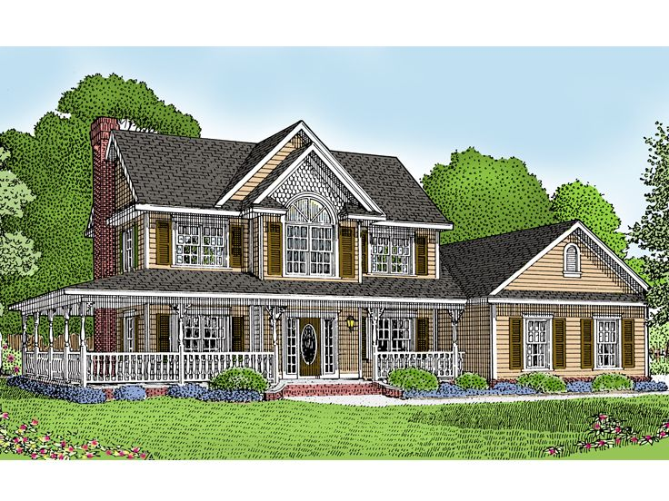 Plan 044h 0007 find unique house plans home plans and for Custom farmhouse plans