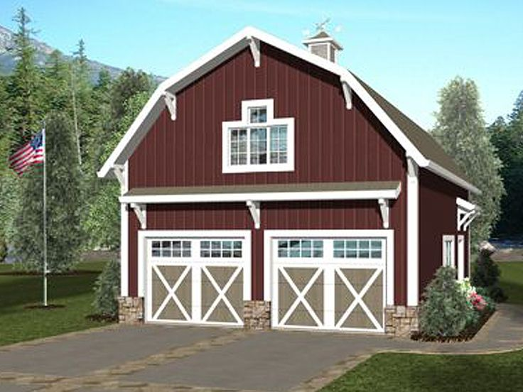 Carriage house plans barn style carriage house plan with for Carriage barn plans