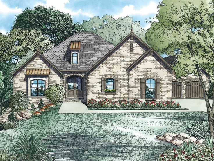 Ranch House Plan, 025H-0310