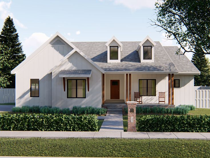 Ranch House Plan, 050H-0098
