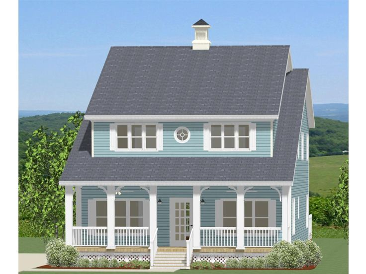 Two Story Narrow Lot Home Plan 067h