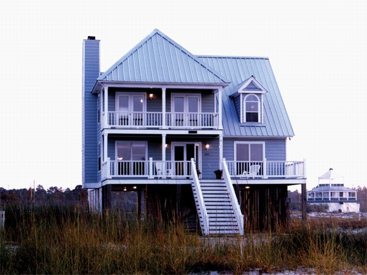 Small two story beach house plans for Two story beach house
