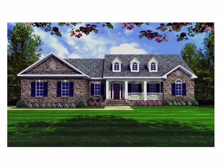 Ranch Home Plan, 001H-0080