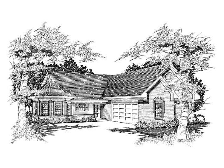One-Story Home Design, 061H-0030