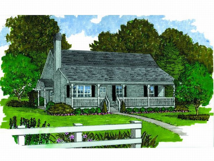 Small Country Home, 032H-0076