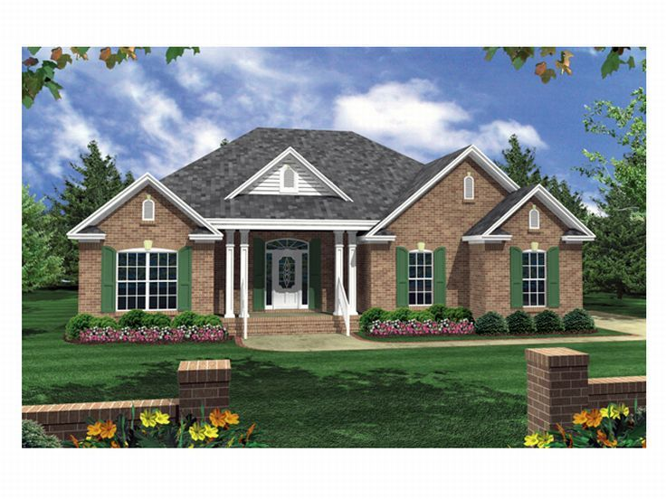 Traditional House Plan, 001H-0025