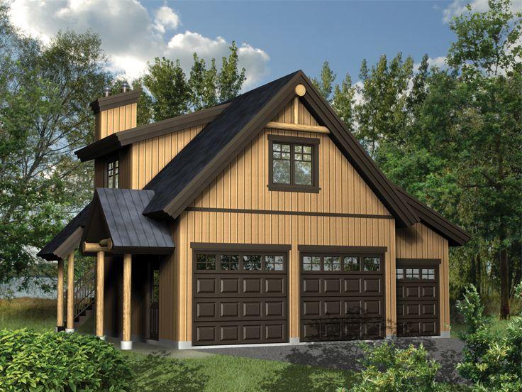 Garage plans with loft three car garage loft plan at for Cabin with garage underneath