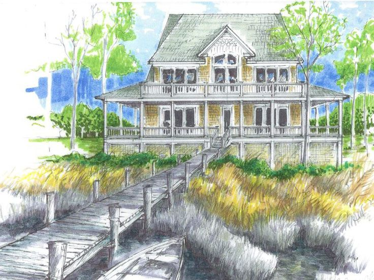 Coastal Home Plan, 041H-0004