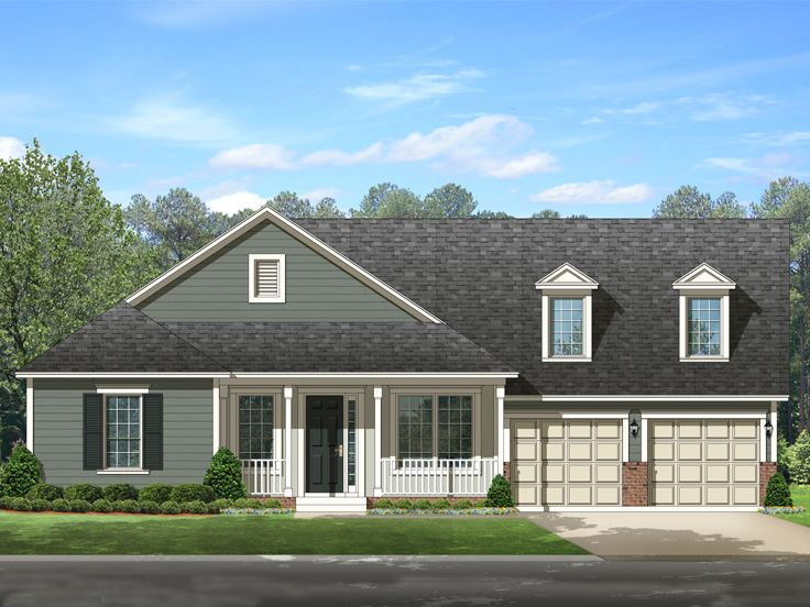 Country Home Plan, 064H-0076