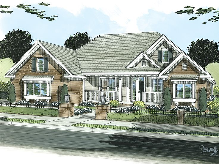 One-Story Home Plan, 059H-0109