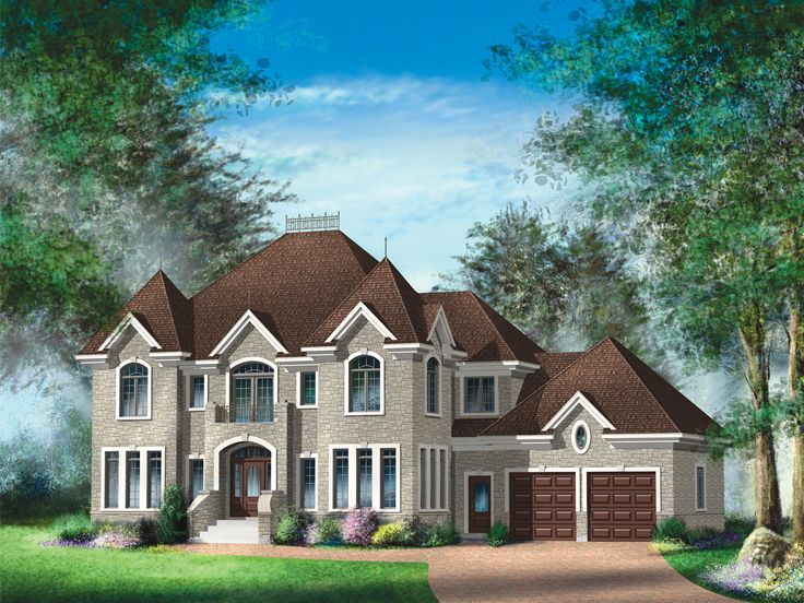European House Plan, 072H-0117