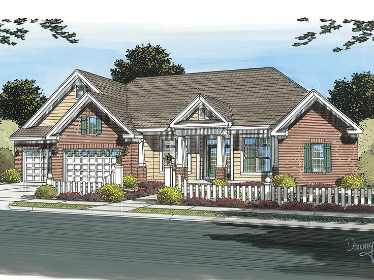 Ranch House Plan, 059H-0099