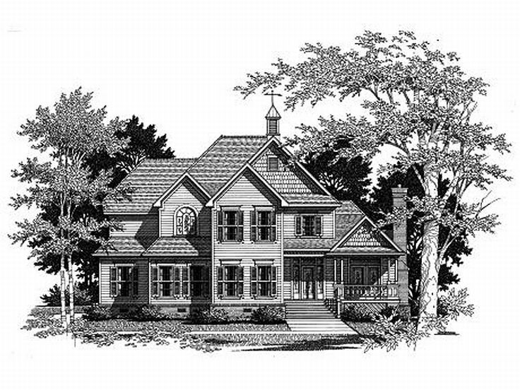 2-Story House Plan, 030H-0074