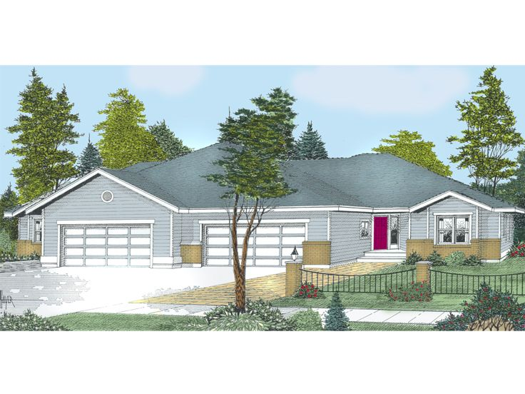 Multi-Family Home Plan, 026H-0002