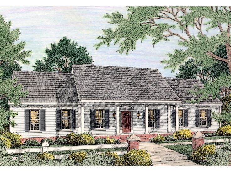 Colonial House Plans | The House Plan Shop