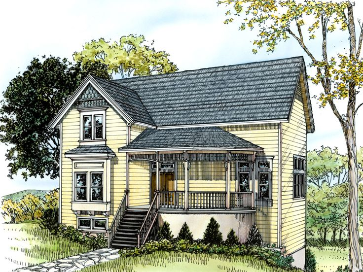 Sloping Lot House Plan, 008H-0017