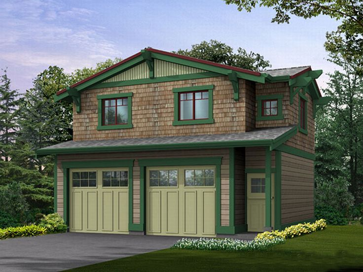 With 2 Bedrooms Above Garage : Garage apartment plans craftsman style