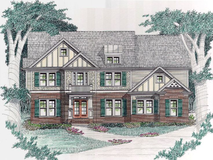 Two-Story Home Plan, 045H-0026