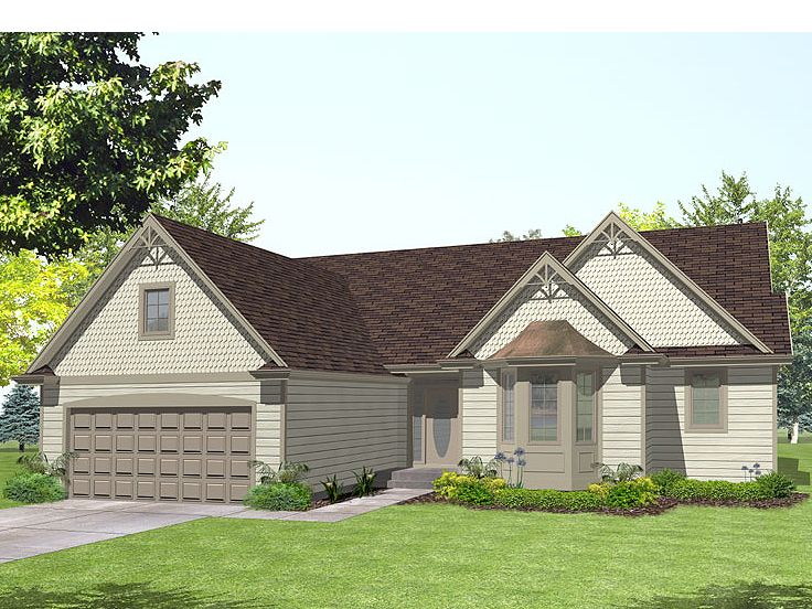 Ranch House Design, 016H-0032