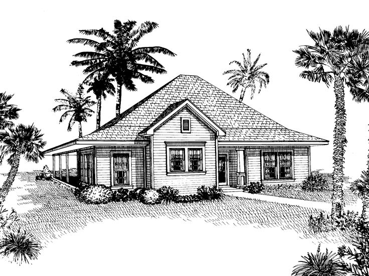 Coastal Home Plan, 054H-0021
