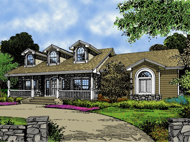 2-Story House Plan, 043H-0183