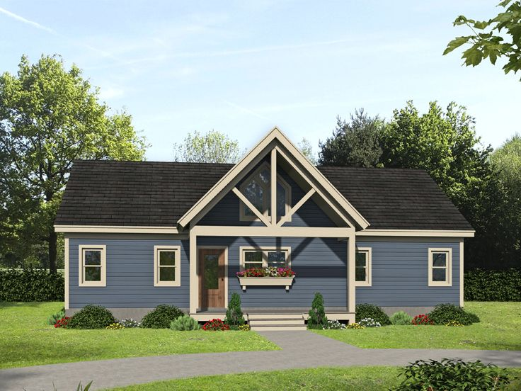 Empty-Nester House Plan, 062H-0256