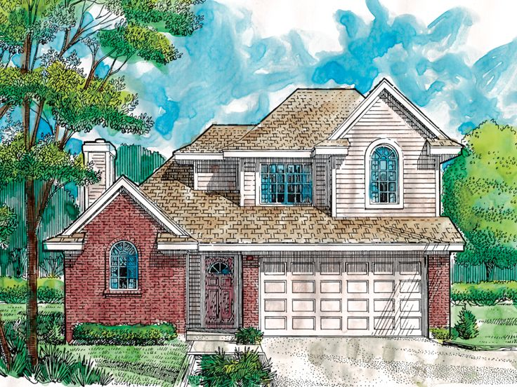 Narrow Lot Home Plan, 054H-0027