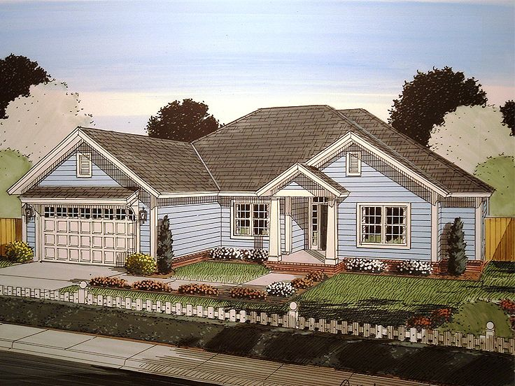 One-Story Home Plan, 059H-0165