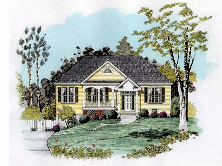 Split-Level Home Plan, 019H-0142