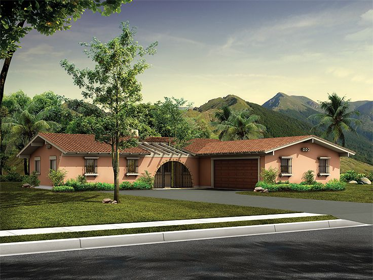 Spanish House Plan, 057H-0001